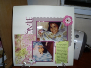 Page done with Mimi paper and cardstock collection.