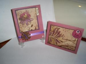 Here are the two cards done with the sketch #2 of this kit
