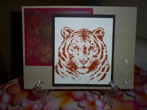 This card uses Kraft Cardstock, Brown Cardstock, Penelope Paper and cardstock, clear peebles