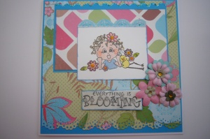 Here's Linda's card. She used her own inspiration and not any of the sketches supplied but she did wonderfully here! See more besides her name. You can click the image to go to her blog or over her name too.