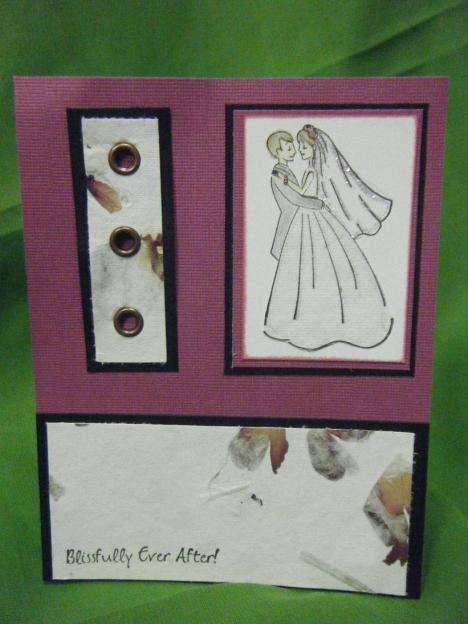 This is a wedding card done with the Blissfully ever after stamp set. I love how this turned out.