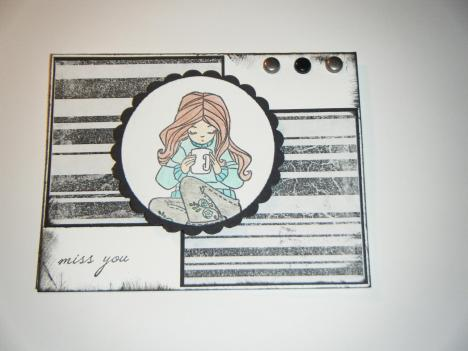 Distressed miss you card