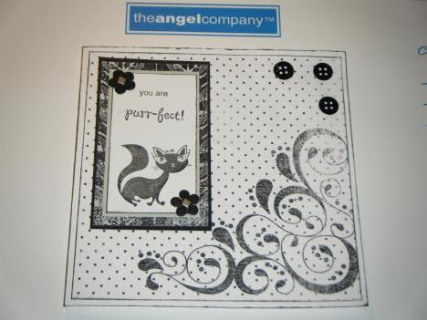Another cat card. Done with TAC's free paper download.