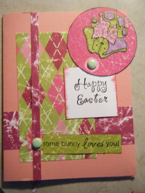 Here is how my Easter card shows the easter message. Isn't it cute? I actually needed a Bday card for a girl and hurried to change that to Happy Birthday since I wouldn't be able to actually work out another and I don't celebrate Easter.