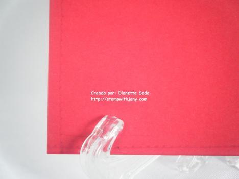Detalle del estampado atrás de la tarjeta.