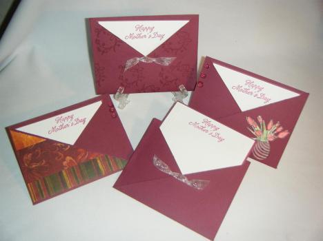 Vista de las 4 tarjetas juntas.