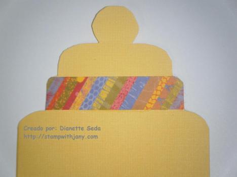 Detalle área del biberón en la tarjeta.