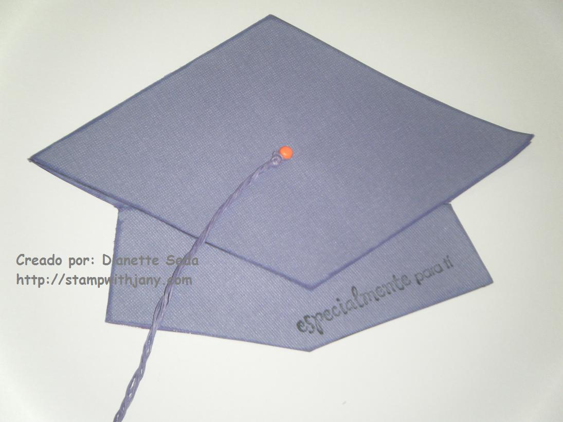 gift card holder de graduacion en forma de virrete