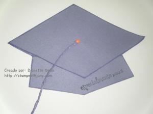 Gift Card Holder de graduación en forma de virrete.