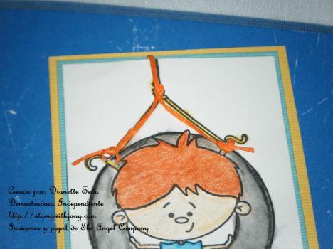 Detalle de la soga en la imagen realizada con scrappers floss.