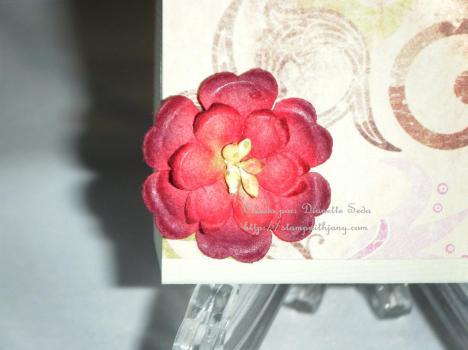 La flor usada para decorar ambos lados de mi cajita.