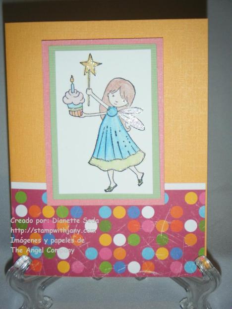 Tarjeta con Kaleidoscope Girlz y Fairy Birthday