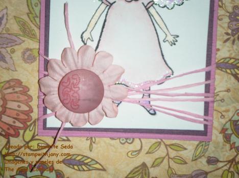 Detalle del Scrappers floss y la flor